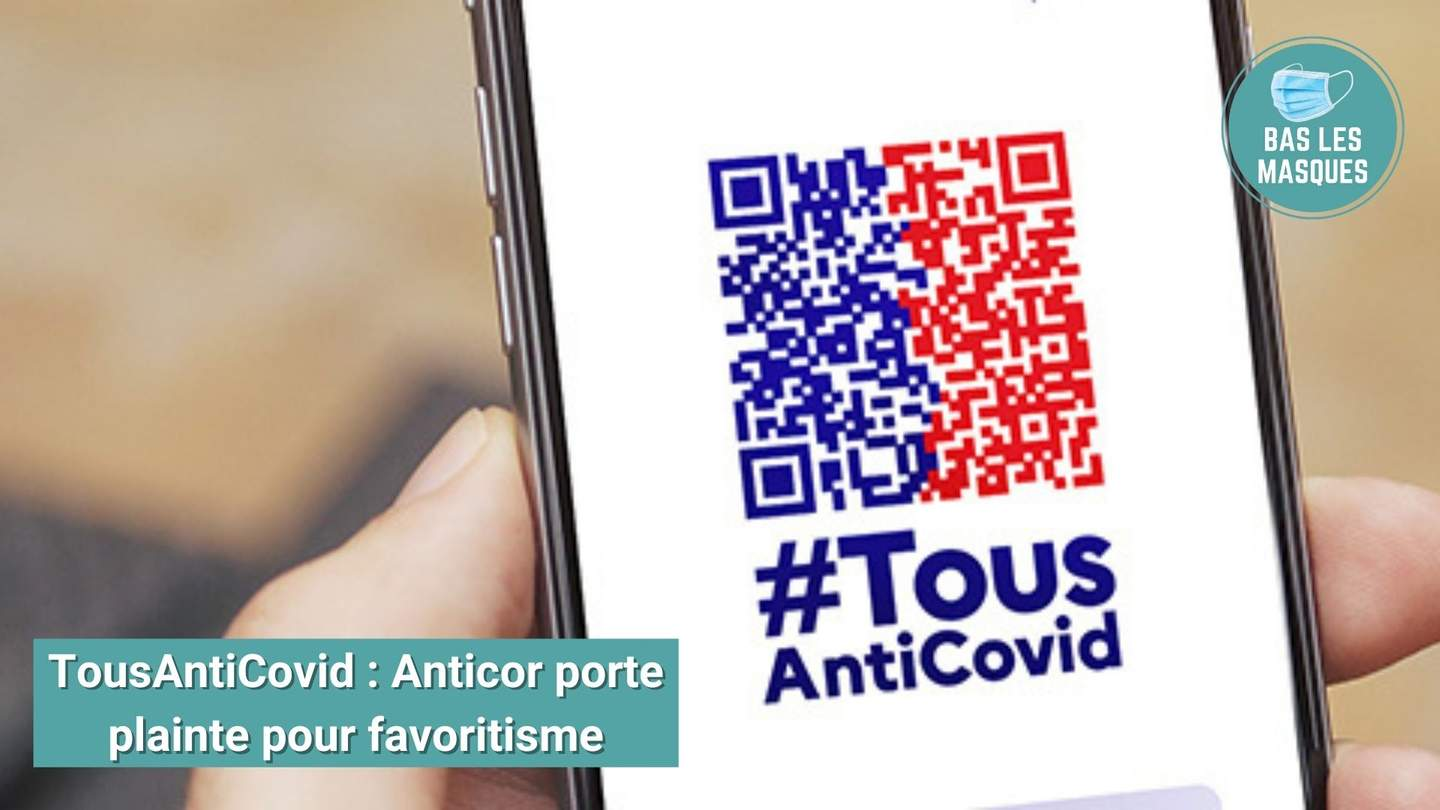 Application TousAntiCovid : Anticor porte plainte pour favoritisme